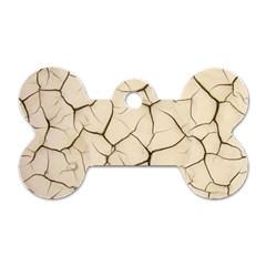 Drought Soil Land Dog Tag Bone (Two Sides)