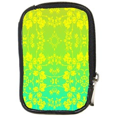 Floral Flower Leaf Yellow Blue Compact Camera Cases