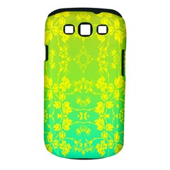 Floral Flower Leaf Yellow Blue Samsung Galaxy S III Classic Hardshell Case (PC+Silicone)