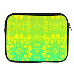 Floral Flower Leaf Yellow Blue Apple iPad 2/3/4 Zipper Cases