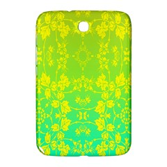 Floral Flower Leaf Yellow Blue Samsung Galaxy Note 8.0 N5100 Hardshell Case