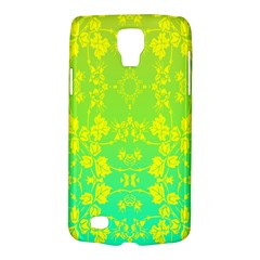 Floral Flower Leaf Yellow Blue Galaxy S4 Active