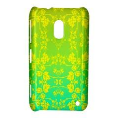 Floral Flower Leaf Yellow Blue Nokia Lumia 620