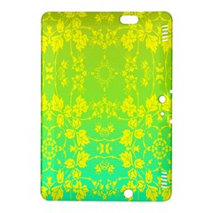 Floral Flower Leaf Yellow Blue Kindle Fire HDX 8.9  Hardshell Case
