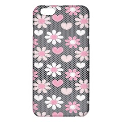 Flower Floral Rose Sunflower Pink Grey Love Heart Valentine iPhone 6 Plus/6S Plus TPU Case