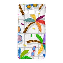 Glasses Coconut Tree Color Rainbow Purple Yellow Orange Green Red Pink Brown Line Samsung Galaxy A5 Hardshell Case