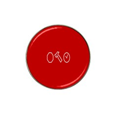 Hour Hammer Plaid Red Sign Hat Clip Ball Marker (4 pack)