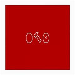 Hour Hammer Plaid Red Sign Medium Glasses Cloth