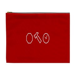 Hour Hammer Plaid Red Sign Cosmetic Bag (XL)