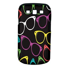Glasses Color Pink Mpurple Green Yellow Blue Rainbow Black Samsung Galaxy S III Classic Hardshell Case (PC+Silicone)