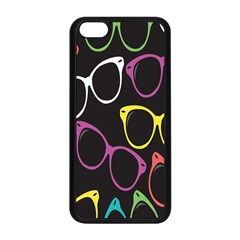 Glasses Color Pink Mpurple Green Yellow Blue Rainbow Black Apple iPhone 5C Seamless Case (Black)