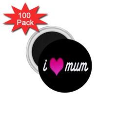 I Love Moom Mum Pink Valentine Heart 1 75  Magnets (100 Pack)