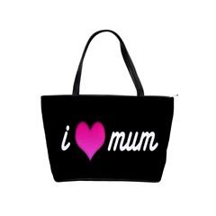 I Love Moom Mum Pink Valentine Heart Shoulder Handbags