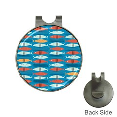 Go Fish  Fishing Animals Sea Water Beach Red Blue Orange Grey Hat Clips with Golf Markers