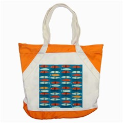 Go Fish  Fishing Animals Sea Water Beach Red Blue Orange Grey Accent Tote Bag