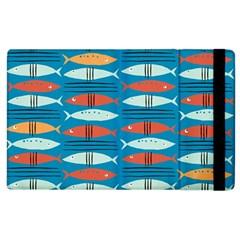 Go Fish  Fishing Animals Sea Water Beach Red Blue Orange Grey Apple iPad 3/4 Flip Case