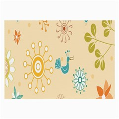 Kids Bird Sun Flower Floral Leaf Animals Color Rainbow Large Glasses Cloth (2-Side)