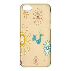 Kids Bird Sun Flower Floral Leaf Animals Color Rainbow Apple iPhone 5C Hardshell Case