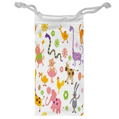 Kids Animal Giraffe Elephant Cows Horse Pigs Chicken Snake Cat Rabbits Duck Flower Floral Rainbow Jewelry Bag