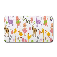 Kids Animal Giraffe Elephant Cows Horse Pigs Chicken Snake Cat Rabbits Duck Flower Floral Rainbow Medium Bar Mats