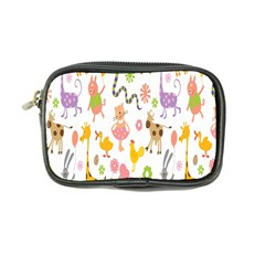 Kids Animal Giraffe Elephant Cows Horse Pigs Chicken Snake Cat Rabbits Duck Flower Floral Rainbow Coin Purse