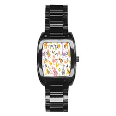 Kids Animal Giraffe Elephant Cows Horse Pigs Chicken Snake Cat Rabbits Duck Flower Floral Rainbow Stainless Steel Barrel Watch