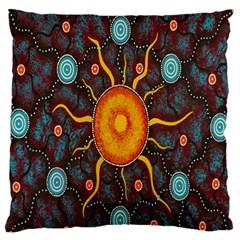 Great Sun Fabric Woven Batik Standard Flano Cushion Case (one Side)