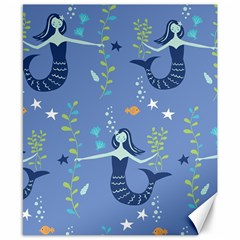 Little Mermaid Star Fish Sea Water Canvas 8  x 10