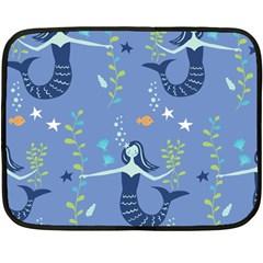 Little Mermaid Star Fish Sea Water Fleece Blanket (Mini)