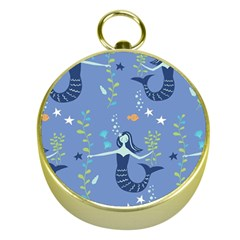 Little Mermaid Star Fish Sea Water Gold Compasses