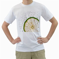 Lime Men s T-Shirt (White) (Two Sided)