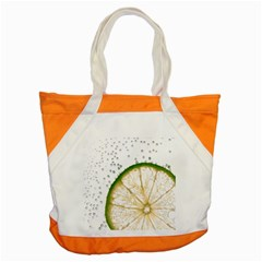 Lime Accent Tote Bag