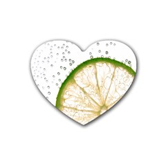 Lime Heart Coaster (4 Pack)