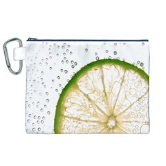 Lime Canvas Cosmetic Bag (XL)