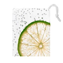 Lime Drawstring Pouches (Extra Large)