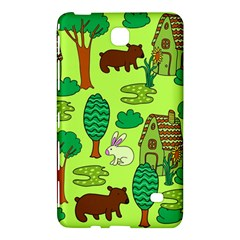 Kids House Rabbit Cow Tree Flower Green Samsung Galaxy Tab 4 (7 ) Hardshell Case