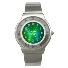 Line Green Light Stainless Steel Watch