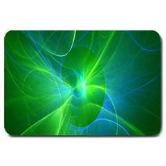 Line Green Light Large Doormat