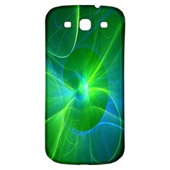 Line Green Light Samsung Galaxy S3 S III Classic Hardshell Back Case