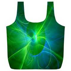 Line Green Light Full Print Recycle Bags (L)
