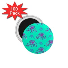 Jellyfish Pink Green Blue Tentacel 1.75  Magnets (100 pack)