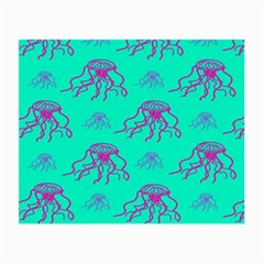 Jellyfish Pink Green Blue Tentacel Small Glasses Cloth