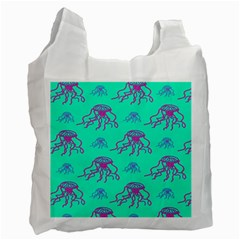 Jellyfish Pink Green Blue Tentacel Recycle Bag (Two Side)