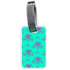 Jellyfish Pink Green Blue Tentacel Luggage Tags (Two Sides)