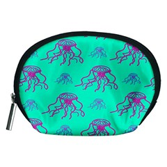 Jellyfish Pink Green Blue Tentacel Accessory Pouches (Medium)