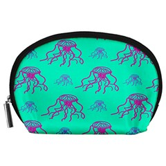 Jellyfish Pink Green Blue Tentacel Accessory Pouches (large)