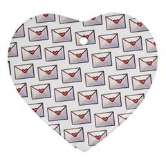 Love Note Custom Letter Heart Valentine Ornament (heart)