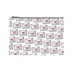Love Note Custom Letter Heart Valentine Cosmetic Bag (Large)