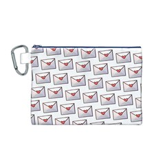 Love Note Custom Letter Heart Valentine Canvas Cosmetic Bag (M)