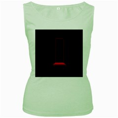 Mistery Door Light Black Red Women s Green Tank Top